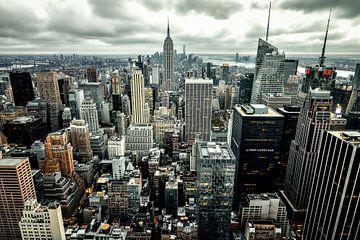 Skyline NYC van Munich Art Prints
