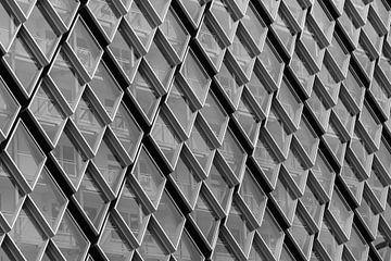 Glazen raster aan de Philipslaan in Eindhoven