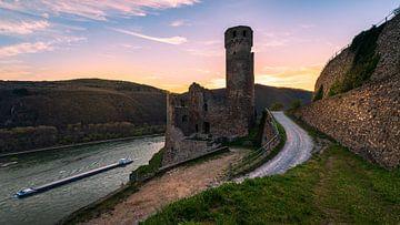 Coucher de soleil au château