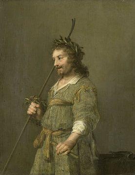 Porträt eines Mannes, gekleidet als Hirte, Hendrik Gerritsz. Topf