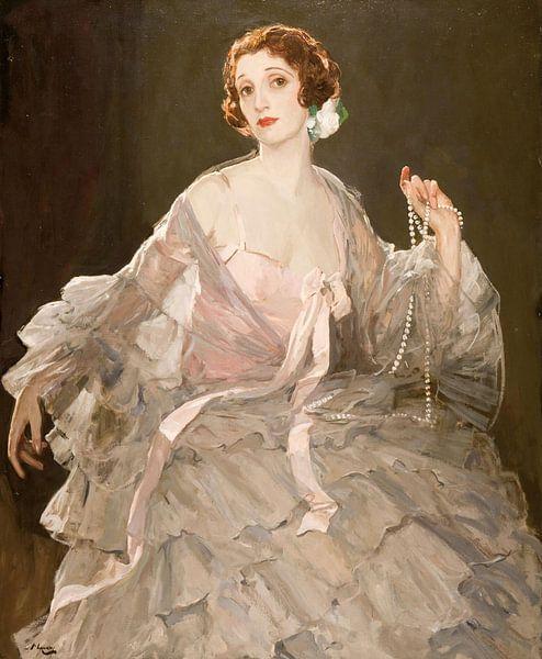John Lavery Porträt von Lady Lavery von Hazel in Rose und Grau von finemasterpiece