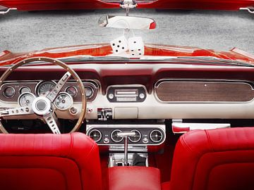 Amerikaans convertibel interieur van de klassieke auto 1965 mustang van Beate Gube