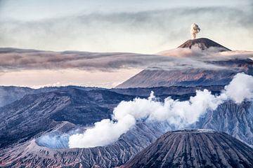 Vulkaan de Bromo - Indonesie van Dries van Assen