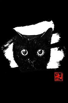 Katze in weiß von philippe imbert