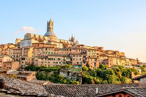 Skyline Siena in warm avondlicht van The Book of Wandering