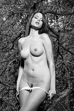 Schöne nackte Frau im Wald fotografiert #9791 von william langeveld