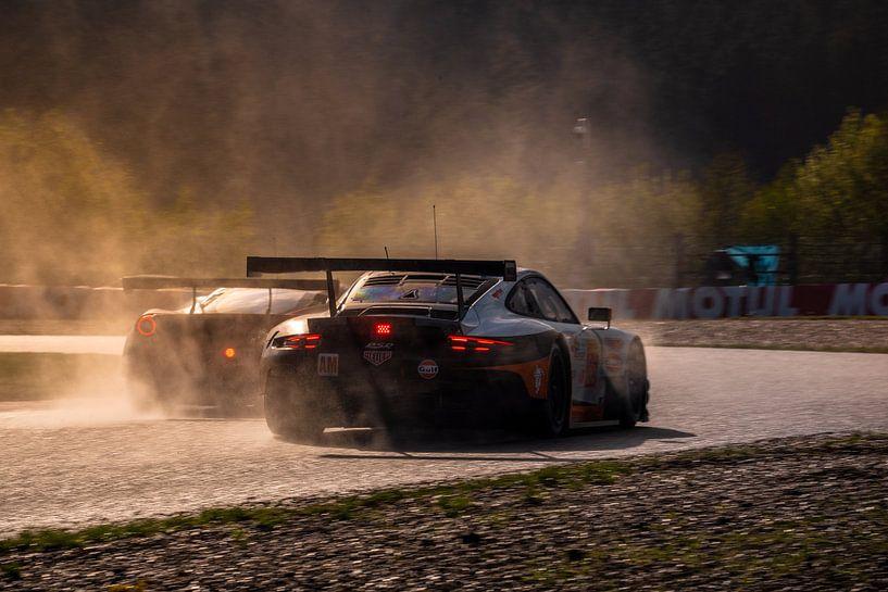 Porsche und Ferrari Spa Francorchamps WEC 2019 von Bob Van der Wolf