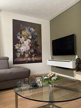 Klantfoto: Stilleven met bloemen, Eelke Jelles Eelkema (gezien bij vtwonen), als naadloos behang
