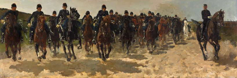 George Hendrik Breitner. Kavallerie von 1000 Schilderijen