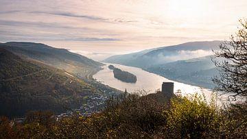 Het Rijndal en de Rheingau in het ochtendlicht van Jens Sessler