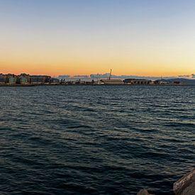 Gibraltar Panorama im Sonnenuntergang von Frank Herrmann