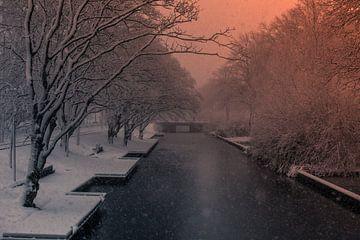 Winter Den Haag Eramusweg von Frank Broenink