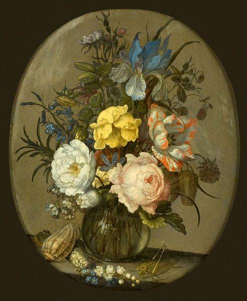 Bloemen in een glazen vaasje, Balthasar van der Ast van Meesterlijcke Meesters