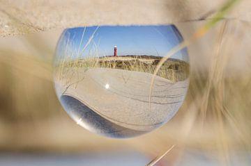 Vuurtoren van Ouddorp in glazenbol van Annelies Cranendonk