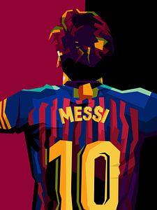 Lionel Messi in popart von miru arts