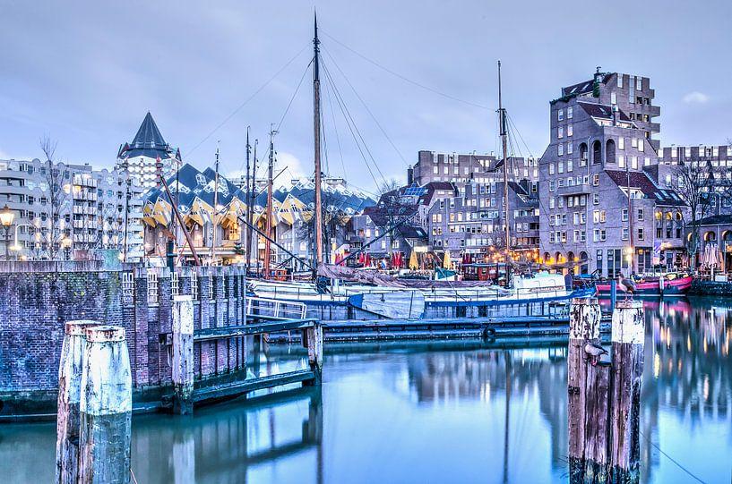De Oude Haven in alle vroegte van Frans Blok