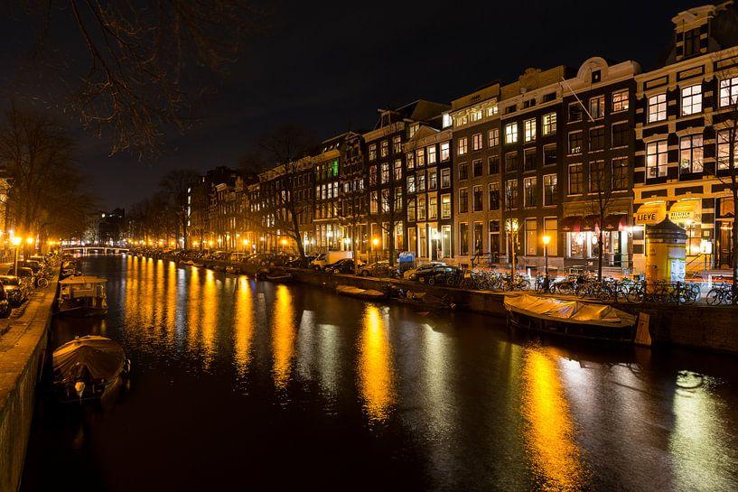 Nachtelijk Amsterdam - 3 van Damien Franscoise