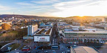Stuttgart bei Sonnenuntergang von Werner Dieterich