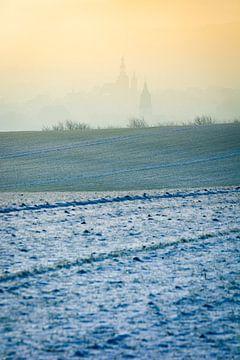 Lutherstadt Eisleben in de winter van Martin Wasilewski
