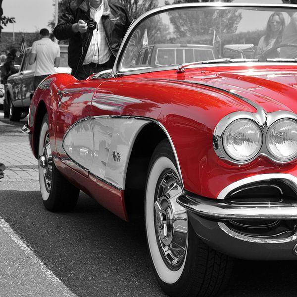 Corvette C1 Red van Titus Dingjan