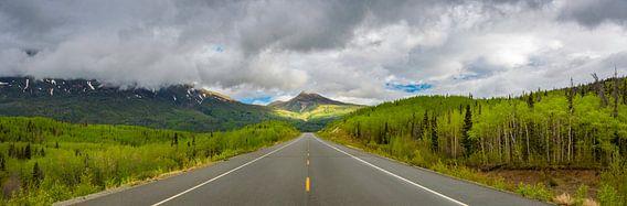 Golden circle route, door Yukon en Alaska