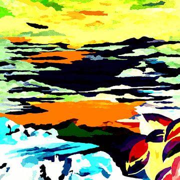 Landscape abstract van Eberhard Schmidt-Dranske