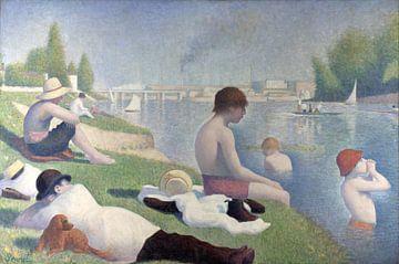 Badestelle in Asnières, Georges Seurat von Meesterlijcke Meesters