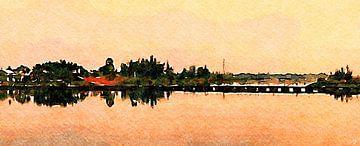 Seenlandschaft von Saskia Ben Jemaa