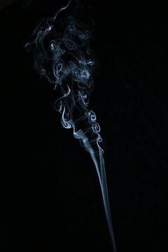 Curly Smoke in Schwarz und Weiß von Karin de Boer Photography