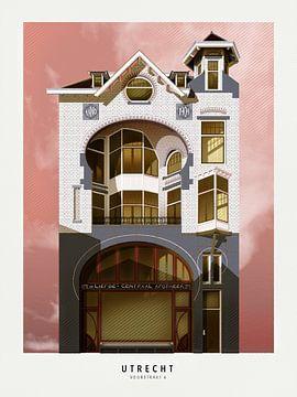 Mein Utrecht - Voorstraat 6 von Gilmar Pattipeilohy