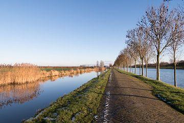 Winterochtend langs het Amsterdam-Rijnkanaal van Marijke van Eijkeren