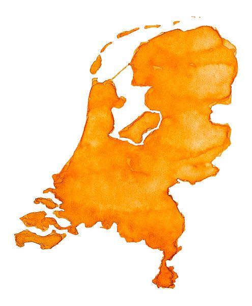Nederland is Oranje van - Wereldkaarten.Shop -