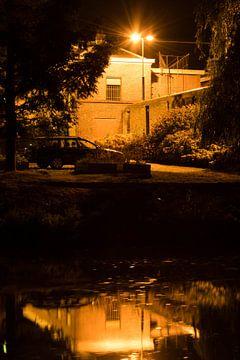 Wolvenplein Utrecht bij nacht van Wil Vlasveld