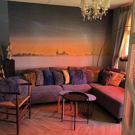 Klantfoto: Zonsopkomst boven Den Bosch van Ruud Peters, als behang