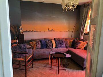 Photo de nos clients: Lever du soleil sur Den Bosch sur Ruud Peters