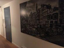 Kundenfoto: AMSTERDAM Bloemgracht schwarz-weiß  von Melanie Viola, auf alu-dibond