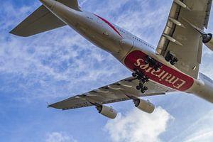Airbus A380 landing op schiphol