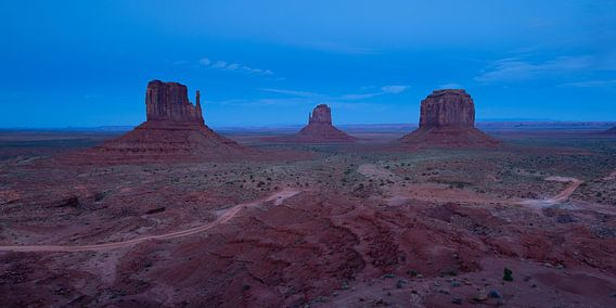 Blauwe uurtje bij Monument Valley