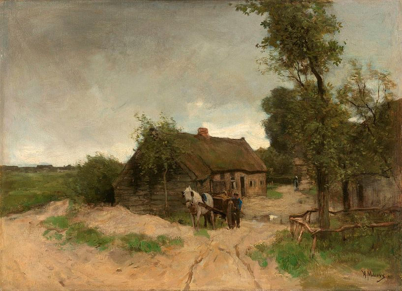 Huisje aan de zandweg, Anton Mauve von Meesterlijcke Meesters
