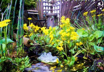 Krokodil in de tuin sur Frans Jonker