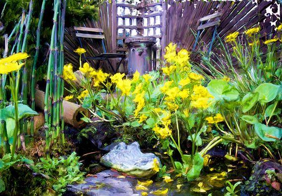 Krokodil in de tuin van Frans Jonker