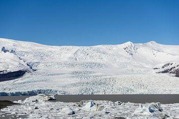 Fjallsárlón gletsjer en gletsjermeer, IJsland van