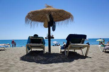 Strand in Malaga von Kees van Dun