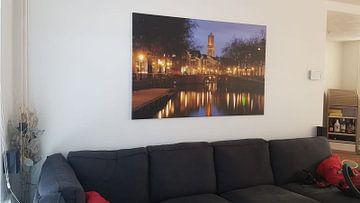 Klantfoto: Zicht op Zandbrug en Oudegracht in Utrecht vanaf de Bemuurde Weerd