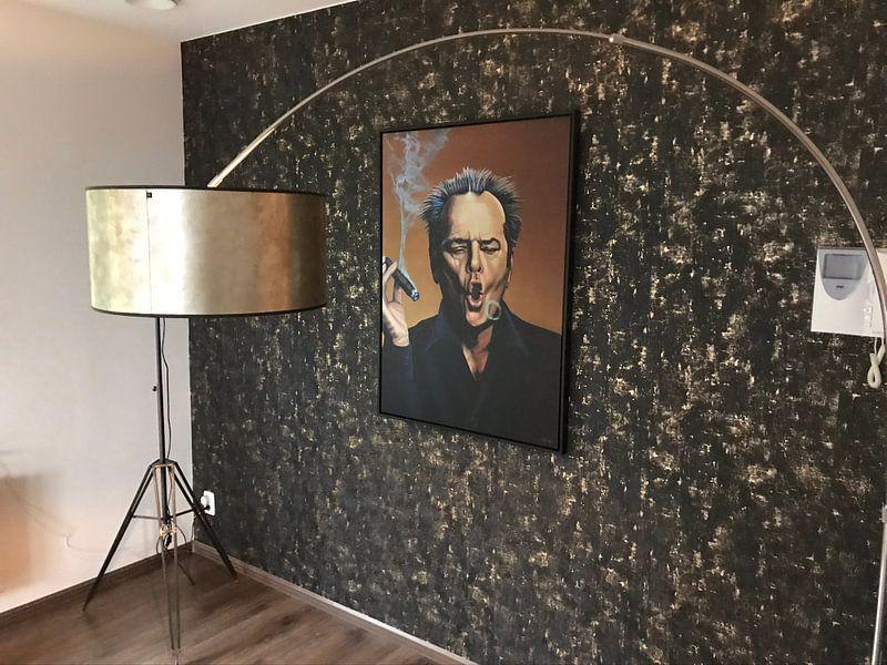 Klantfoto: Jack Nicholson Schilderij van Paul Meijering
