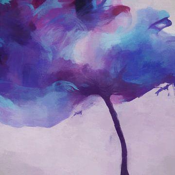 Violette tulp van Angel Estevez
