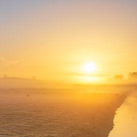 Mist op Texel. van Justin Sinner Pictures ( Fotograaf op Texel)