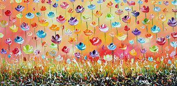 Fleurs sur Gena Theheartofart
