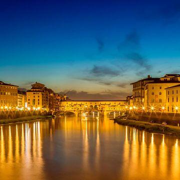 FLORENCE Ponte Vecchio au coucher du soleil sur Melanie Viola