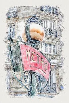 Paris Metro van Peter Roder